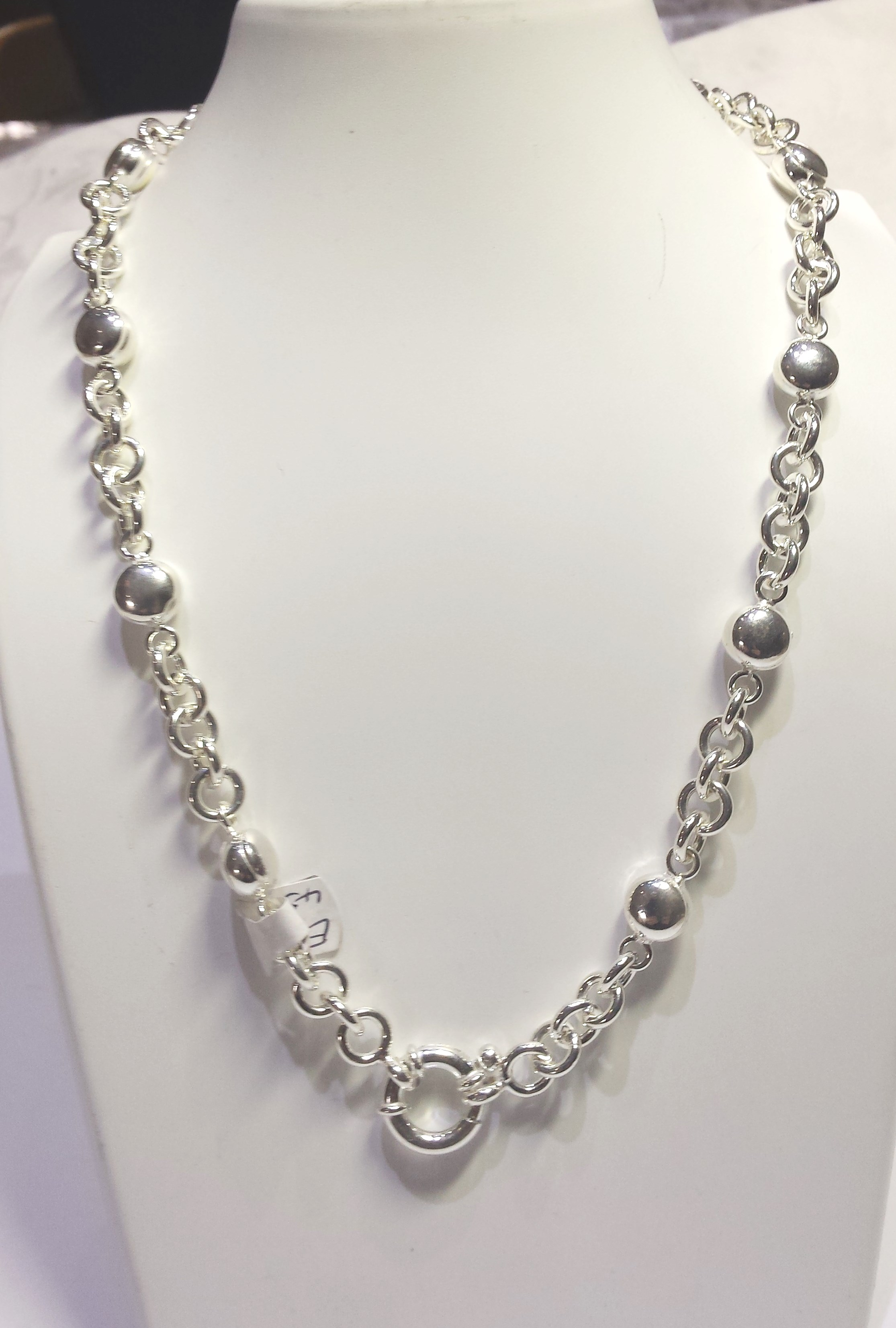 products silver series necklace inches img ball chain chains
